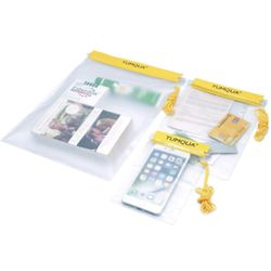 YUMQUA Clear Waterproof Bags, Water Tight Cases Pouch Dry Bags for Camera Mobile Phone Maps Pouch Kayak Military Boating Document Holder Thumbnail