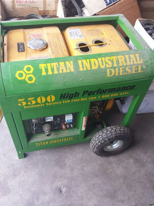 Generator Titan 5500 Diesel For Sale In Miami FL
