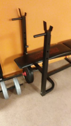 Weider bench and weights for Sale in Cicero, NY
