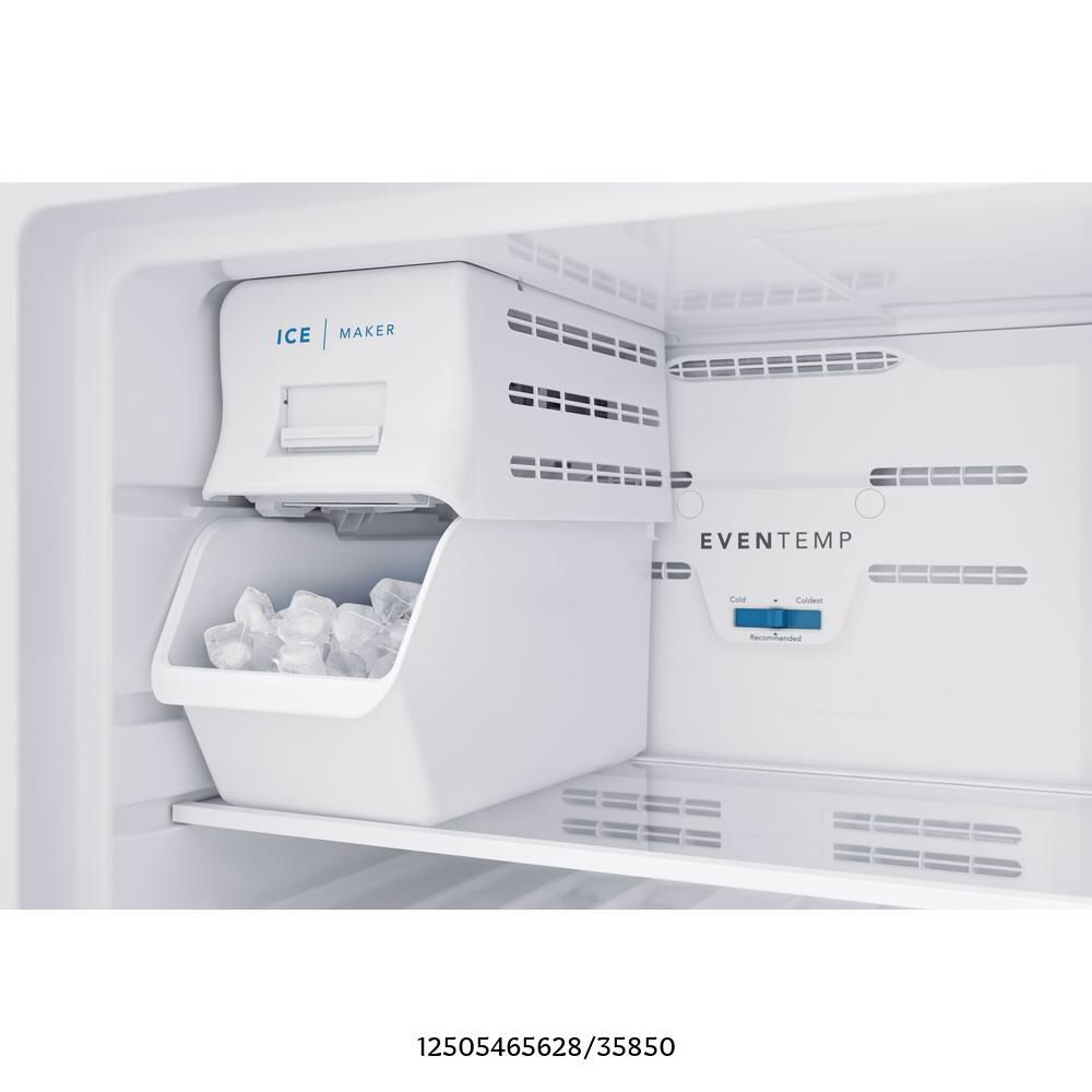 Frigidaire 8.25 in. Top Mount Refrigerator 5 lbs. Built-In Plastic Ice Maker Installation Kit in White  - Slightly used