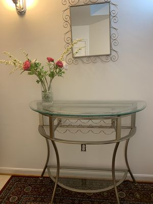 Silver Table with Mirror for Sale in Springfield, VA