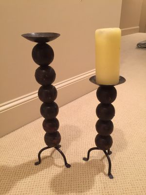 Antique cast iron candle holders for Sale in Atlanta, GA
