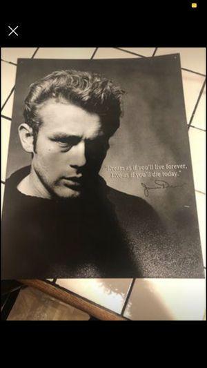 Photo 100% all American James Dean Tin Sign