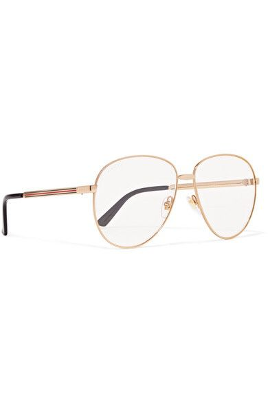 7e78ee7afc9e Gucci Aviator Style Gold Tone Optical Glasses for Sale in ...