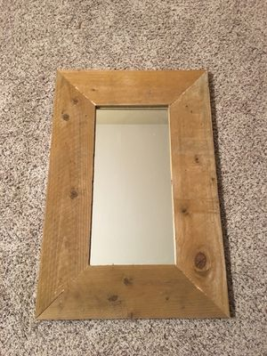 Mirror in recycled cedar fence frame for Sale in Vancouver, WA