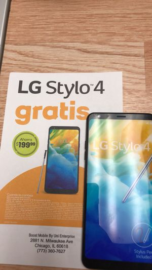 LG STYLO 4 FREE WHEN YOU SWITCH TO BOOST MOBILE for Sale in