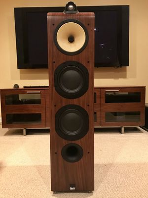 """Pair of Pristine B&W 703s in Walnut with matching Center Channel HTM7"""" for Sale in Fairfax, VA"""