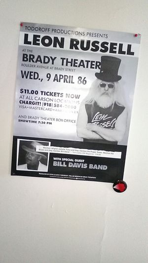 1986 Leon Russell poster at the Brady for sale  Tulsa, OK