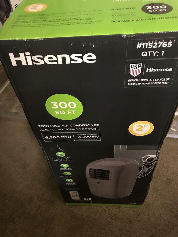 Hisense Portable Air Conditioner 6500 Btu 300 Sq Ft For