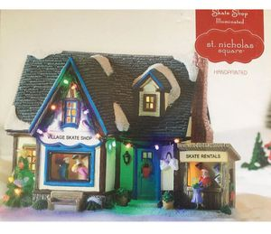 St. Nicholas Square Skate Shop Illuminated Holiday Christmas Figurine for Sale in Union City, CA
