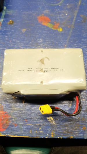 Photo 36V 4400mAh 158Wh Li-ion 18650 Battery for hoverboard and install option