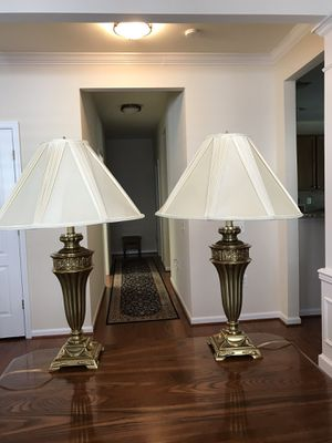 Pair of Brass Lamps for Sale in Alexandria, VA