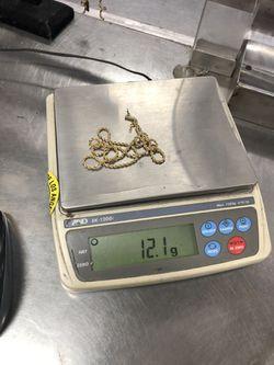 "14k Gold Rope Chain 12.1 Grams 22"" Thumbnail"