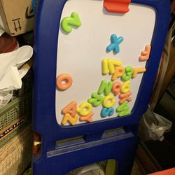 Magnetic Chalkboard Kids Easel Thumbnail
