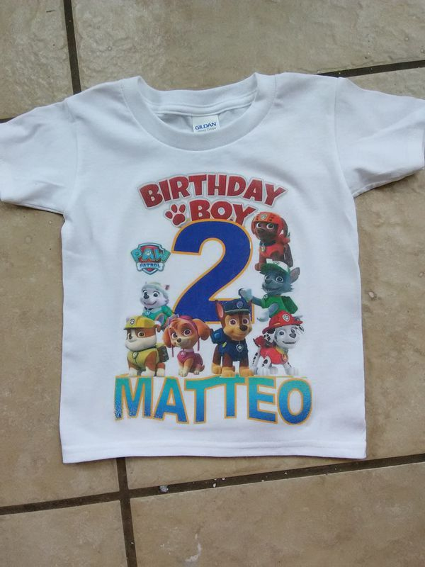 Paw Patrol Birthday Shirt 15