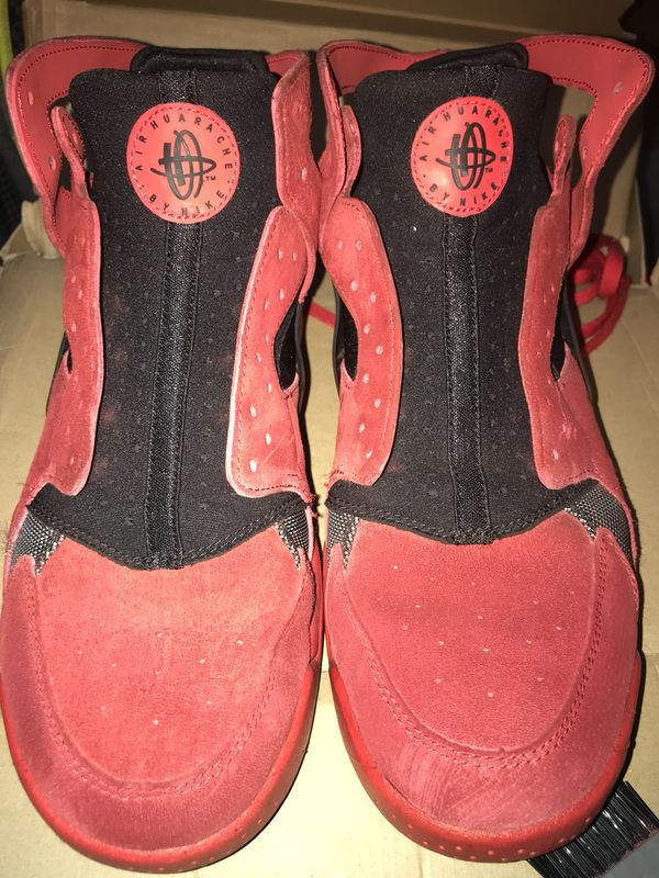 641e7071d24d Men s Nike Air Flight Huarache - Red Love Hate - Size 9.5- Red Suede Used  ReDyed