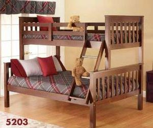 Brand new in box Java color twin over full wooden bunk bed for Sale in College Park, MD