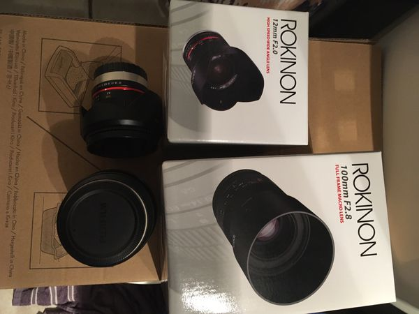 Rokinon Samyang for Fujifilm Lenses! for Sale in Honolulu, HI - OfferUp