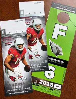 Arizona Cardinals vs Denver Broncos for Sale in Peoria, AZ
