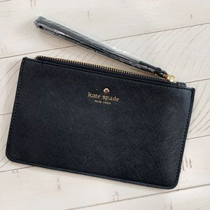 Photo Kate Spade women's wristlet flat wallet, Black