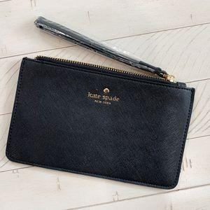 Photo Kate Spade women's wristlet flat wallet, Black