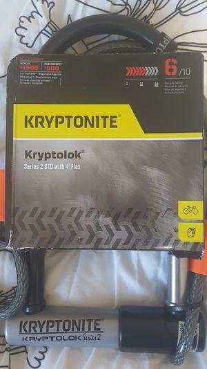 Kryptonite U lock kryptolock bike cable 2std w 4' cabled for Sale in Washington, DC