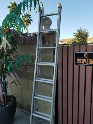 Aluminum extension ladder is light and easy to haul and carry on truck for Sale in Mesa, AZ