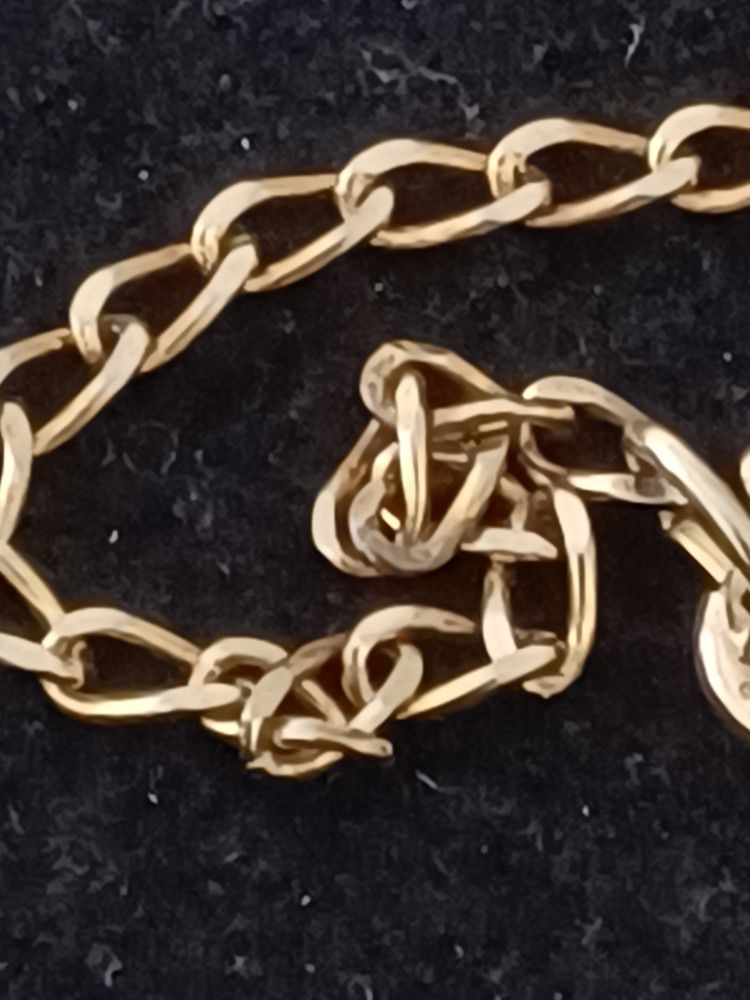 Vtg.Sterling Silver 925- Gold Vermeil  Suns& Man Face Necklace