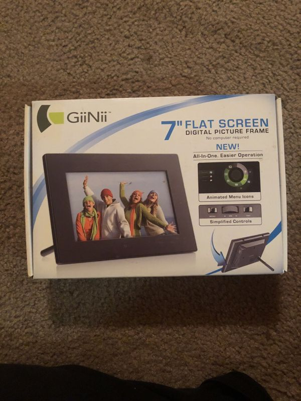 Giinii 7 Flat Screen Digital Picture Frame Electronics In Denton