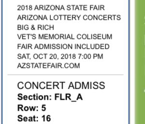 BIG AND RICH CONCERT TICKETS for Sale in Phoenix, AZ