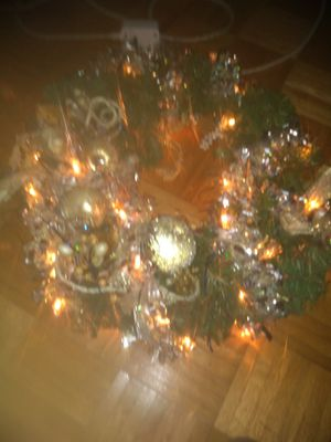 Large 18.5 light up wreath for Sale in San Antonio, TX