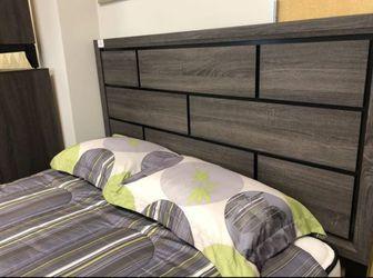 Brand New Gray Panel Bedroom Set, Bedroom Furniture (bed frame, Dresser, mirror, nightstand) Thumbnail