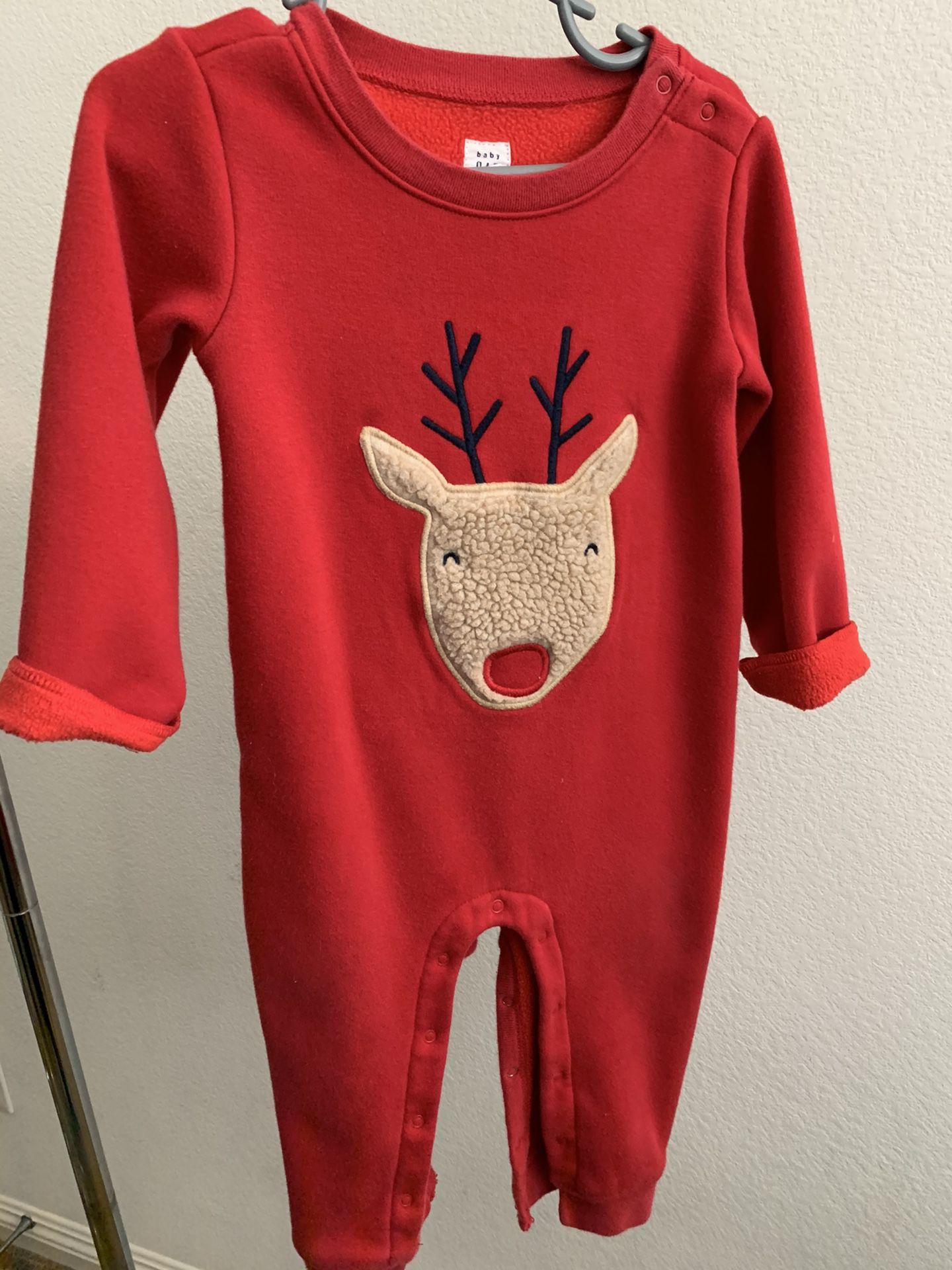 Baby Gap Reindeer LS Romper