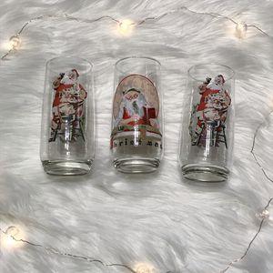 3 Coca Cola Santa Claus glasses for Sale in Camp Hill, PA
