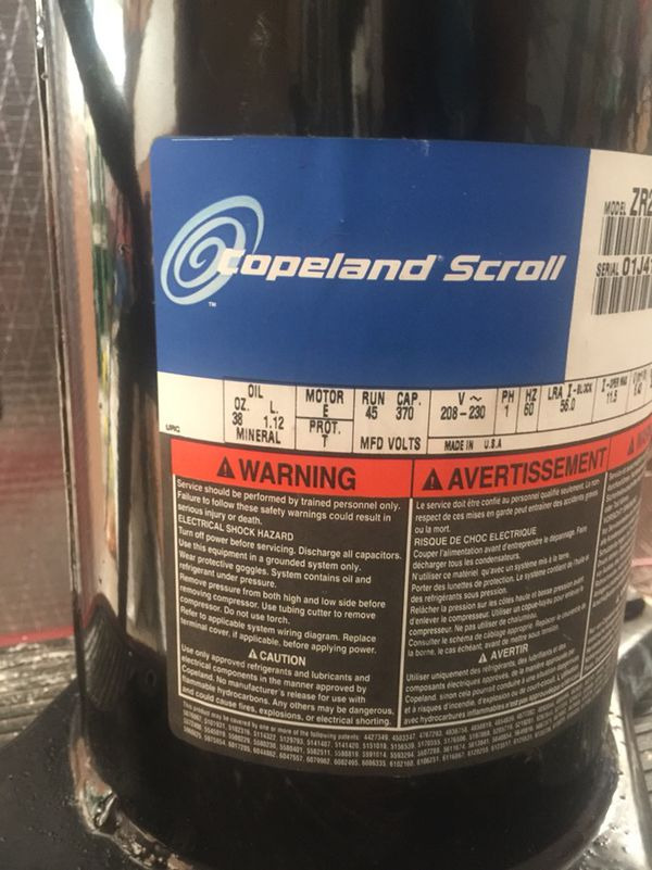 Stupendous Copeland 2 Ton Scroll Compressor Zr22K3 Pfv 130 For Sale In Jupiter Wiring Cloud Hisonuggs Outletorg