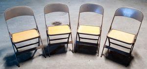 Vintage, Clarin Mfg Co. Metal and Wood Folding Child Chair (set of 4) for Sale in Seattle, WA