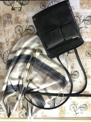 Black leather purse - Tote included for FREE! for Sale in Gaithersburg, MD