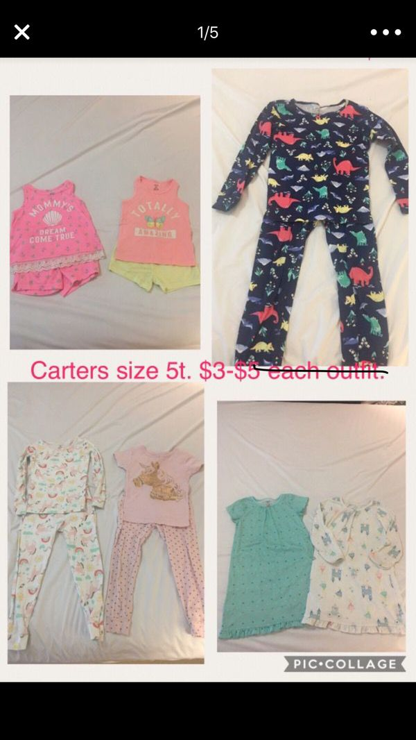 2c3e7ea2c Carters pajamas size 5t. Each set only  3! for Sale in Margate