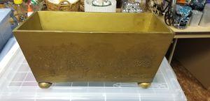 Gold flower pot rectangular for Sale in McLean, VA