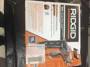 New Rigid cordless 16ga finish nail gun for Sale in Ashville, OH