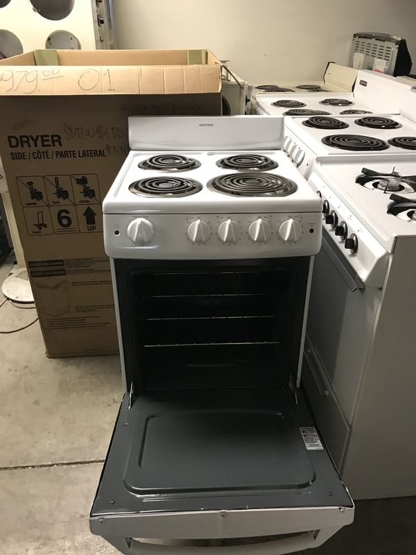 "San Carlos appliances. Used, hotpoint ,20"" stove, electric, white ..."