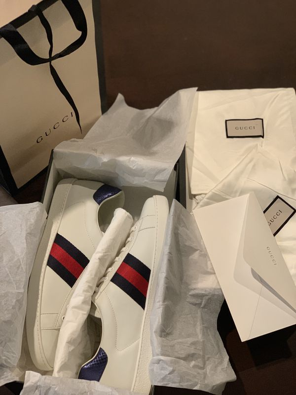 732070f67ae 100% AUTHENTIC GUCCI ACE SNEAKERS 12G 12-13 for Sale in Carrollton ...