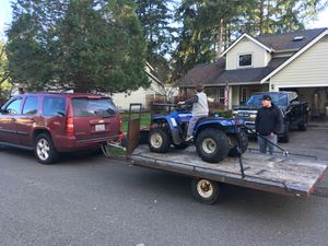 16' tilt trailer and Honda four trax for Sale in Graham, WA