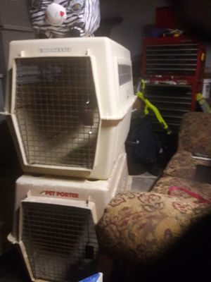 Photo X XL. Dog. Cage. Great shape. For. Big. Dog. 36. Long. 24. Wide. 26. Tall. For. 55. Each. Bogo. Orange park c.t