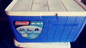 48qt coleman cooler for Sale in Huntington Beach, CA