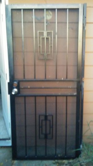 Iron gate for a door for Sale in Houston, TX