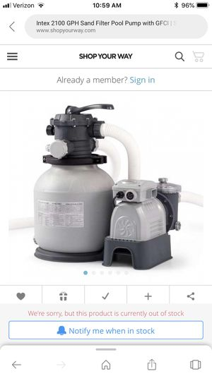 Intex2100 gph sand filter pool pump for Sale in West Valley City, UT