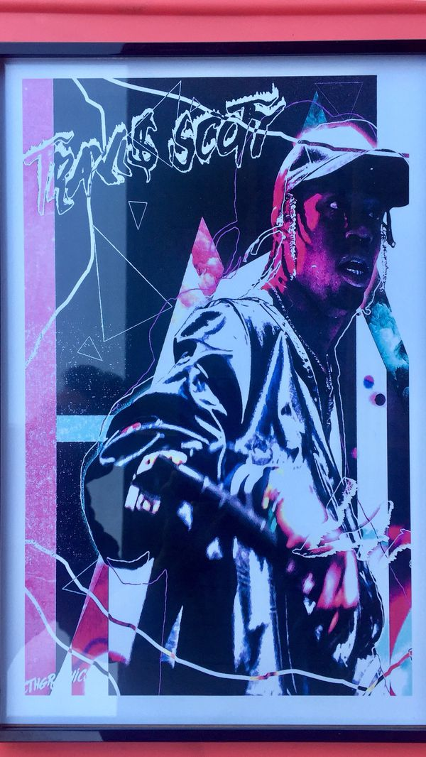 14878ea59b0b Travis Scott astroworld Print And Poster In 11x17 inch glass frame ...