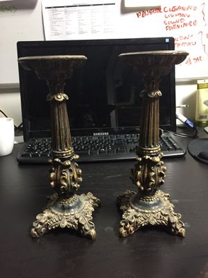 Set of 2 Matching Antique Candlesticks for Sale in New York, NY