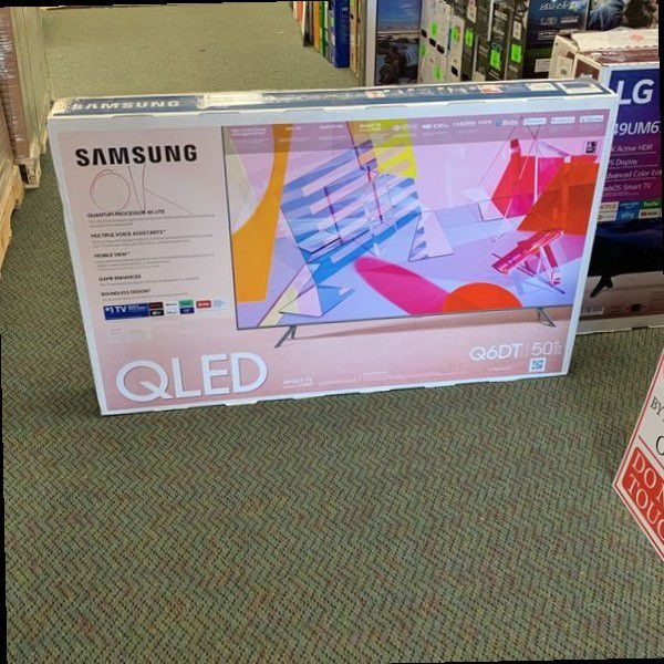 "OPEN BOX 50"" SAMSUNG QN50Q6DTAFX QLED SMART TV"
